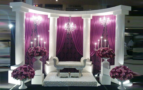 Best Indian Wedding Stage Decoration Dubai Event Stage Builtup